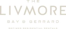 The Livmore, Bay & Gerrard, Refined Residential Rentals, Logo