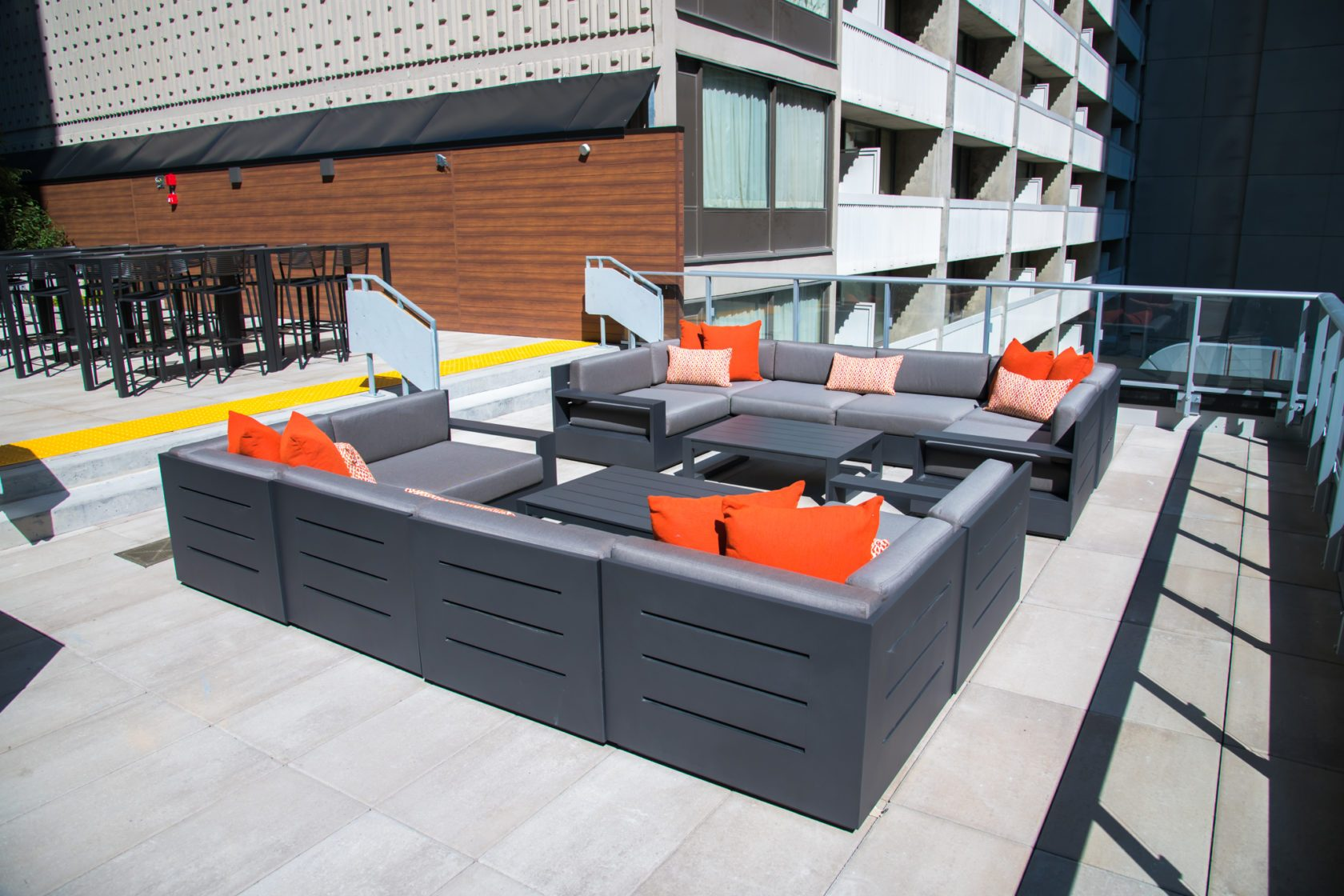 The Livmore outdoor terrace with seating