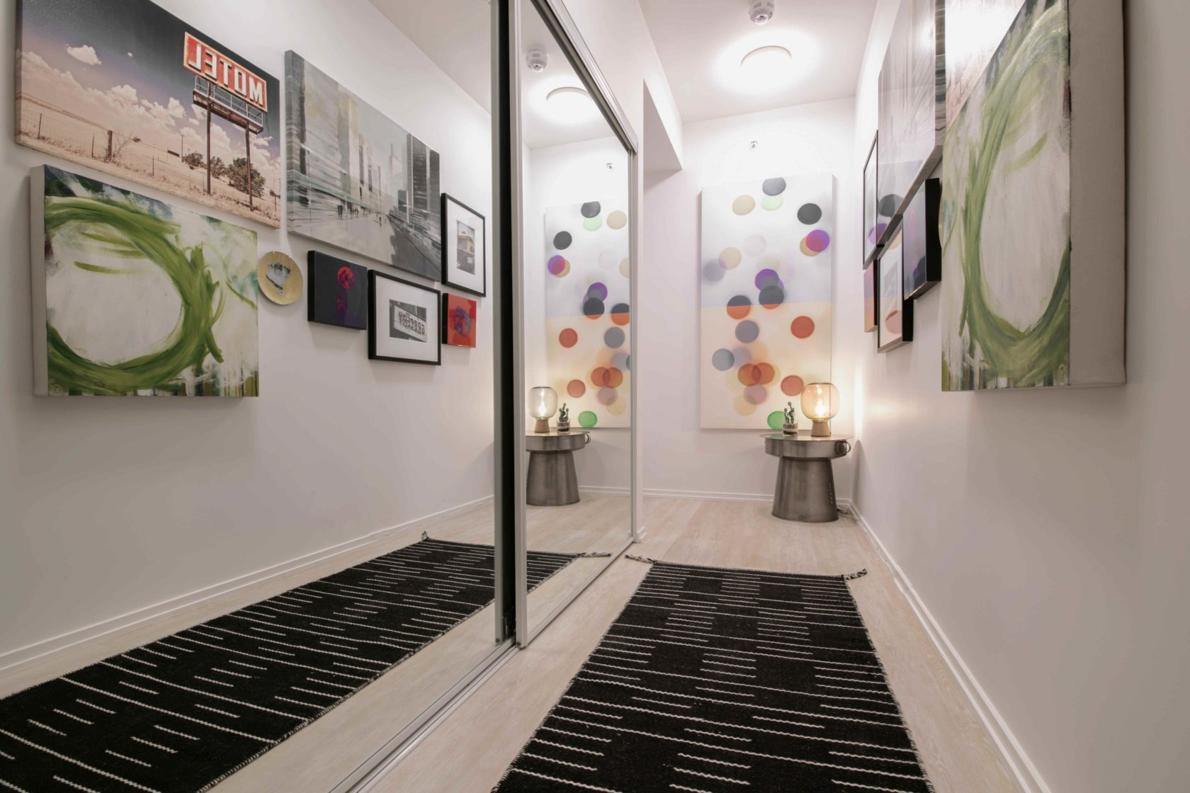 Livmore Suite Entrance with cool art