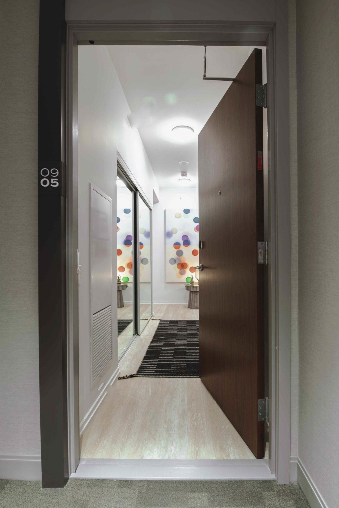 Livmore Suite apartment unit front door
